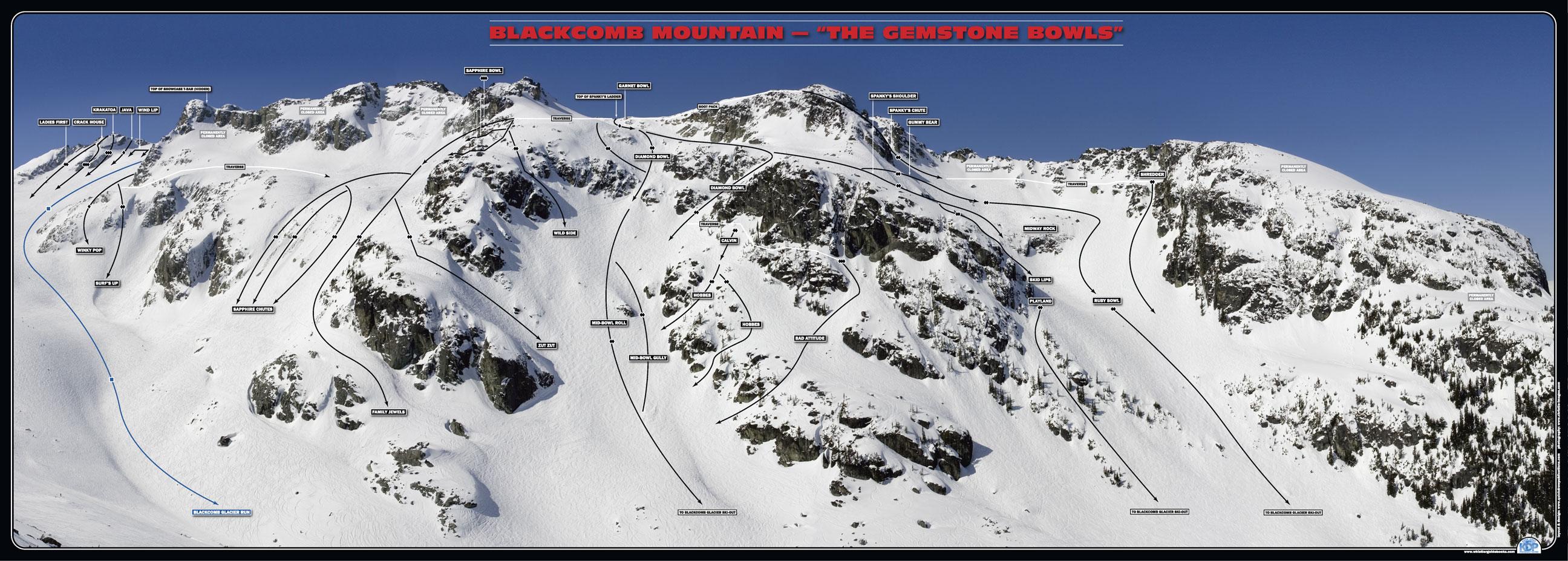 blackcomb glacier - my favorite spot for riding powder in Whistler