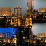 Skyline fake, Warner Brothers Studios, Los Angeles, Californien