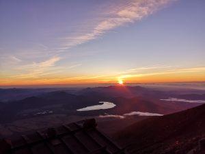 Solopgang på Mt. Fuji - Fujisan Japan