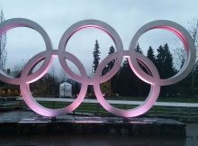 Olympic rings in Whistler