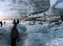 Ice cave on Blackcomb Glacier