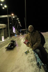 Dennis Asp at the bobsled world cup in Whistler