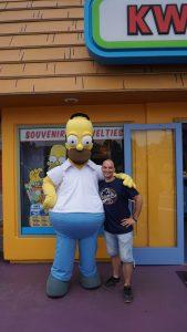 Homer Simpson, Universal Studios, Los Angeles, California
