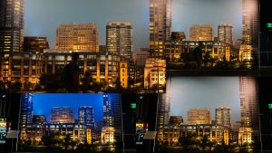 Skyline fake, Warner Brothers Studios, Los Angeles, California