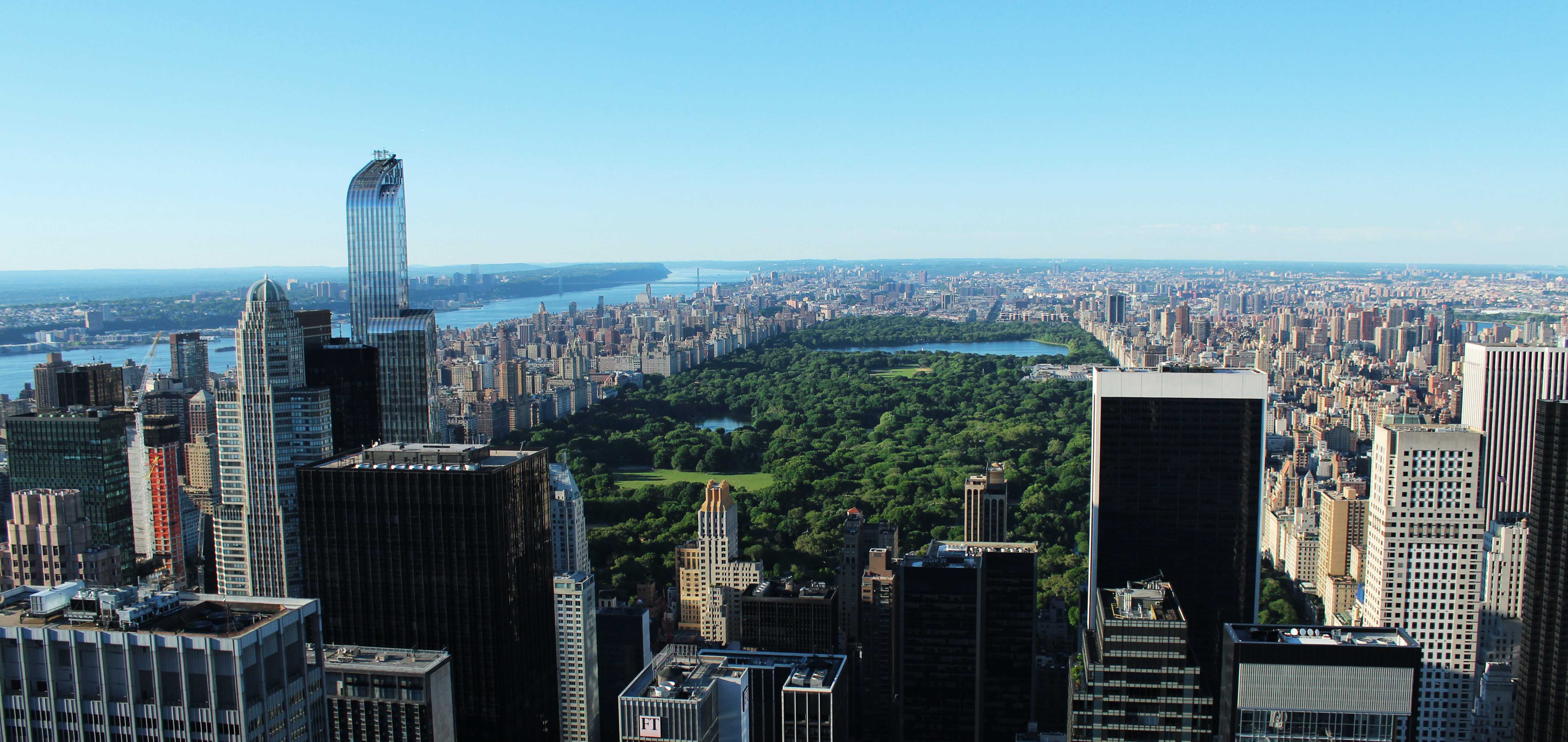 Central Park from Rockefeller (top of the rock), New York