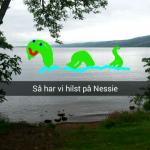 Loch Ness Monsteret, Nessie, i Loch Ness fra Urquhart Castle, Skotland