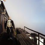 På vej mod toppen, Fuji, Japan