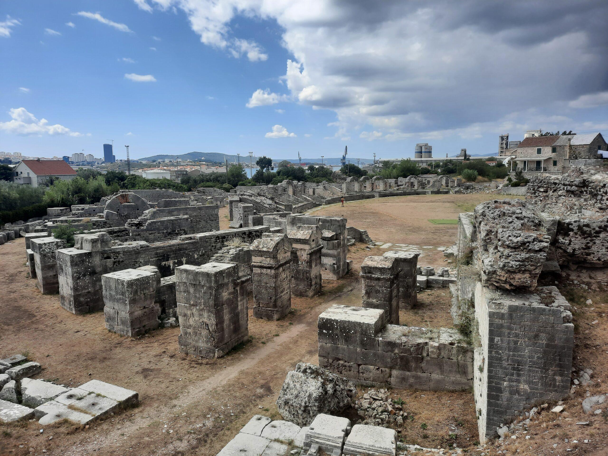 Romersk Ruin, Salona, Split, Kroatien