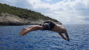 Staniva beach, Vis, Speedbådstur, Split, Kroatien